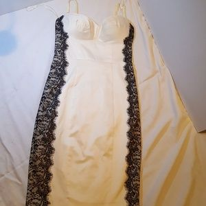 Ivory dress with black lace